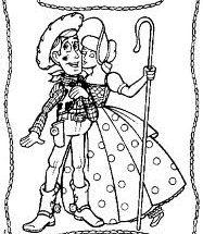 Dibujo Woody y su pareja